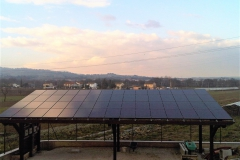 Pensilina Fotovoltaico BM Impianti 18kWp