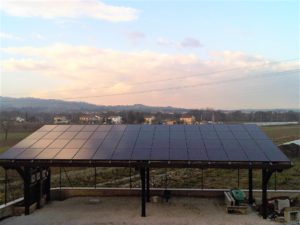 Pensilina Fotovoltaico BM Impianti 18kWp supower