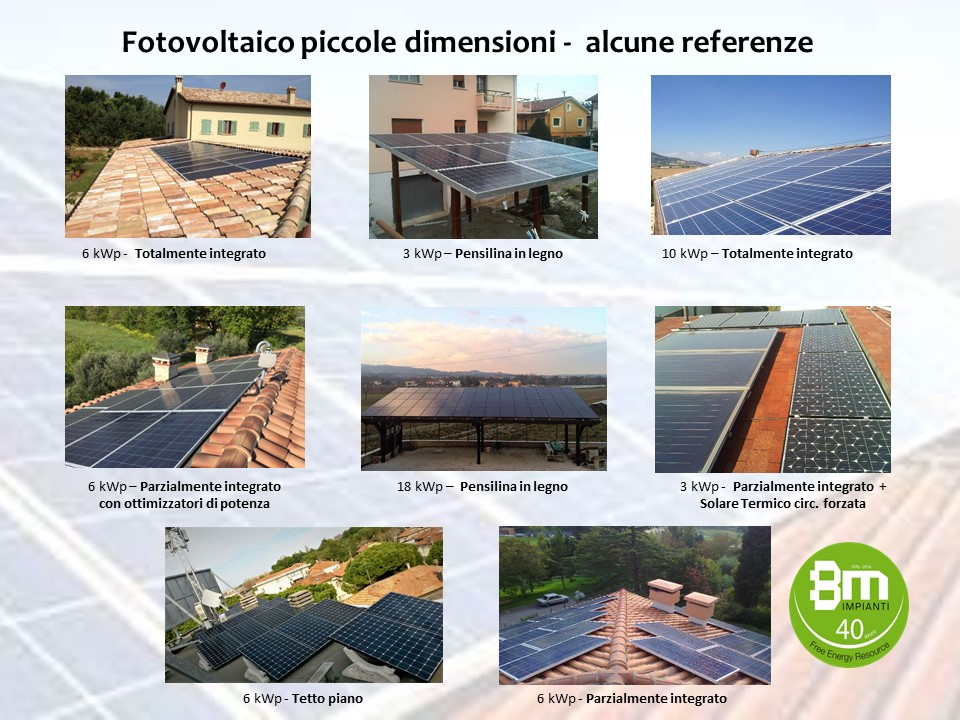 imoianto fotovoltaico civile