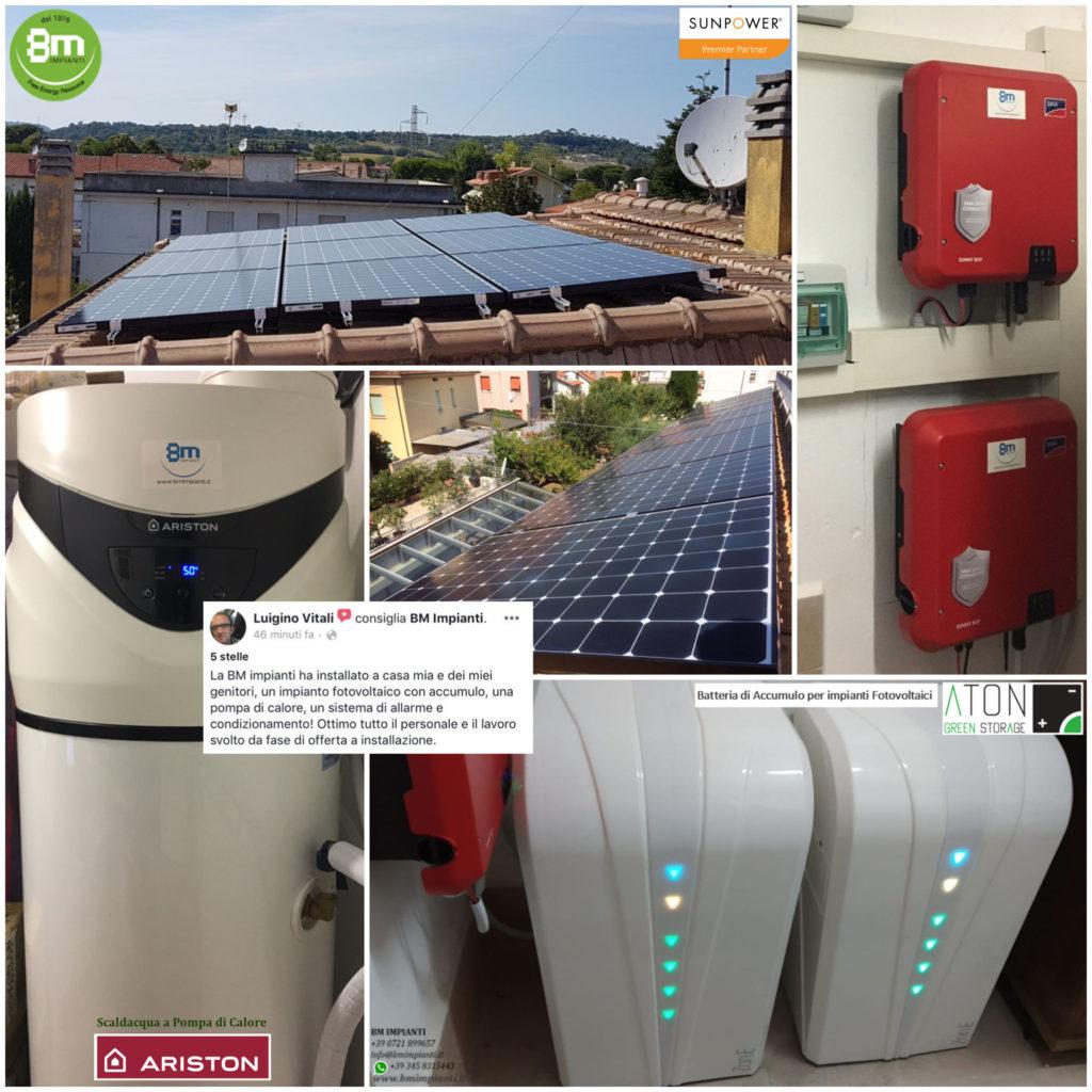 3 kWp 3kWp SunPower Vitali BM Impianti Pesaro Ancona Rimini cR2