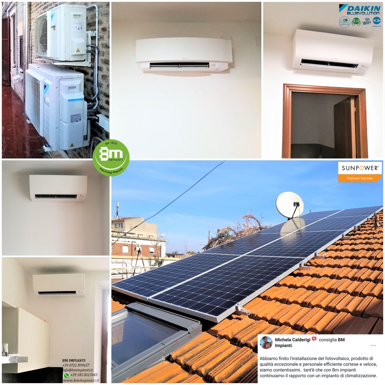 Climatizzazione DAIKIN Fotovoltaico BM IMPIANTI Passerini Ancona Loreto Macerata cR
