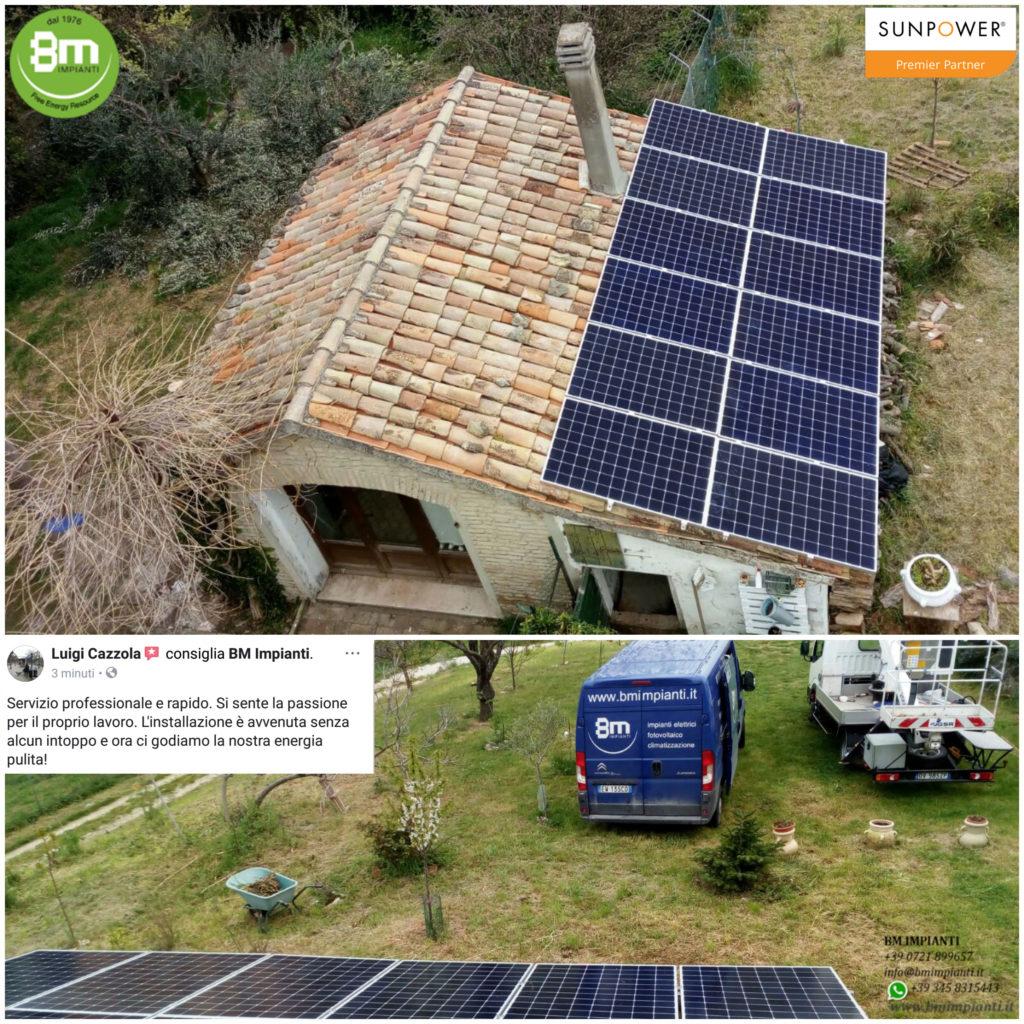 Fotovoltaico 4 kWp SunPower BM Impianti Sperandini Fano Pesaro 7
