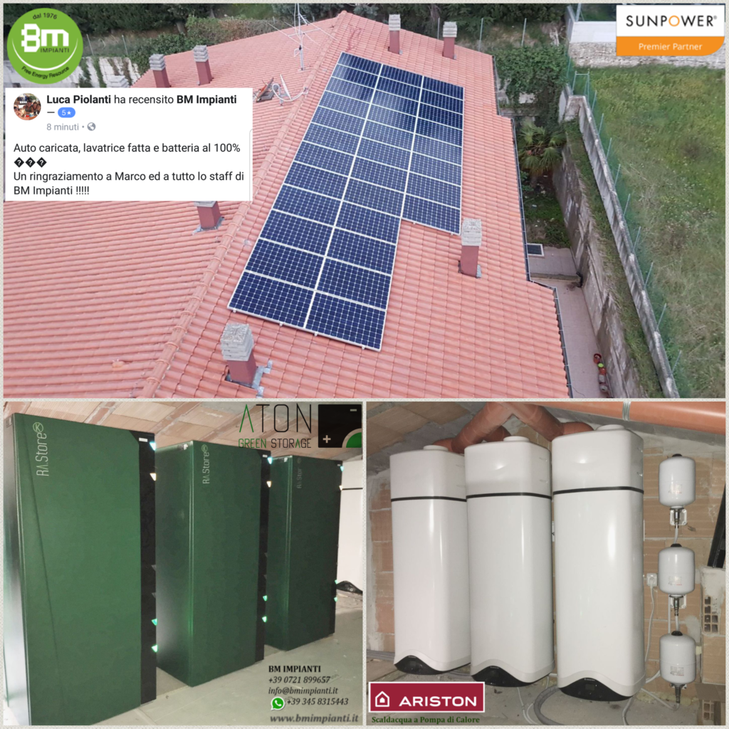 Fotovoltaico Batteria pompa calore BM Impianti Montescudo Rimini Ric... 1