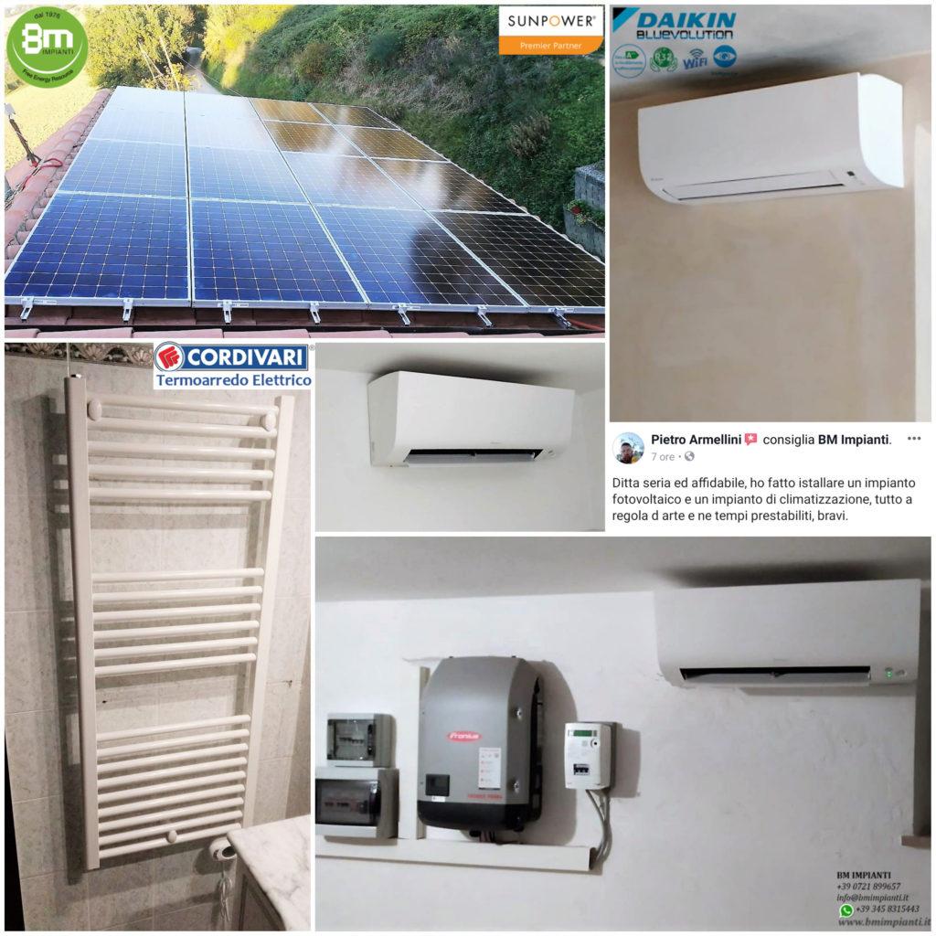 Fotovoltaico SunPower Clima DAIKIN BM Impianti Armellini Ostra Belveder... 1