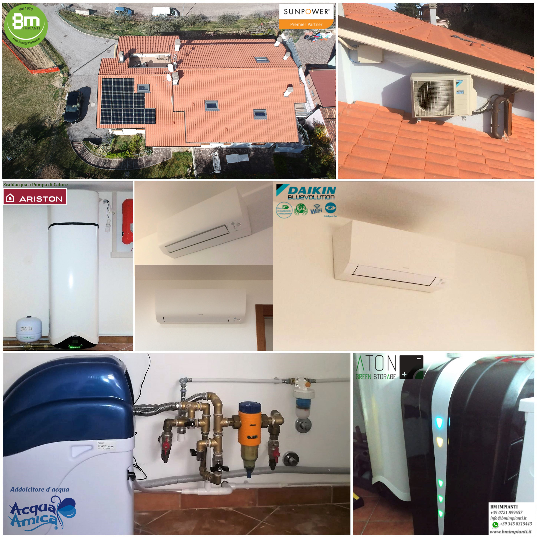 Fotovoltaico SunPower Daikin Batteria BM Impianti Giovanneli Pesaro Anco... 1