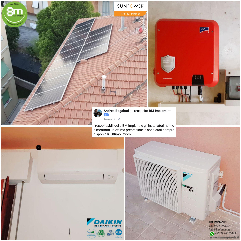 Fotovoltaico SunPower Daikin BM Impianti Bagaloni Ancona Civitanova Asco...