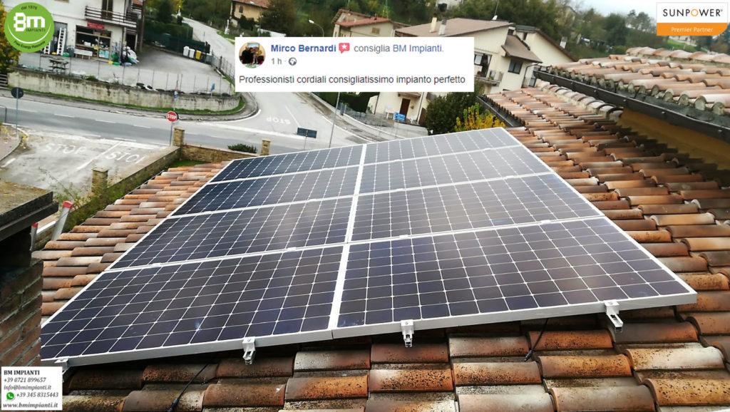 Fotovoltaico SunPower BM Impianti Bernardi Sassoferrato Ancona 3r