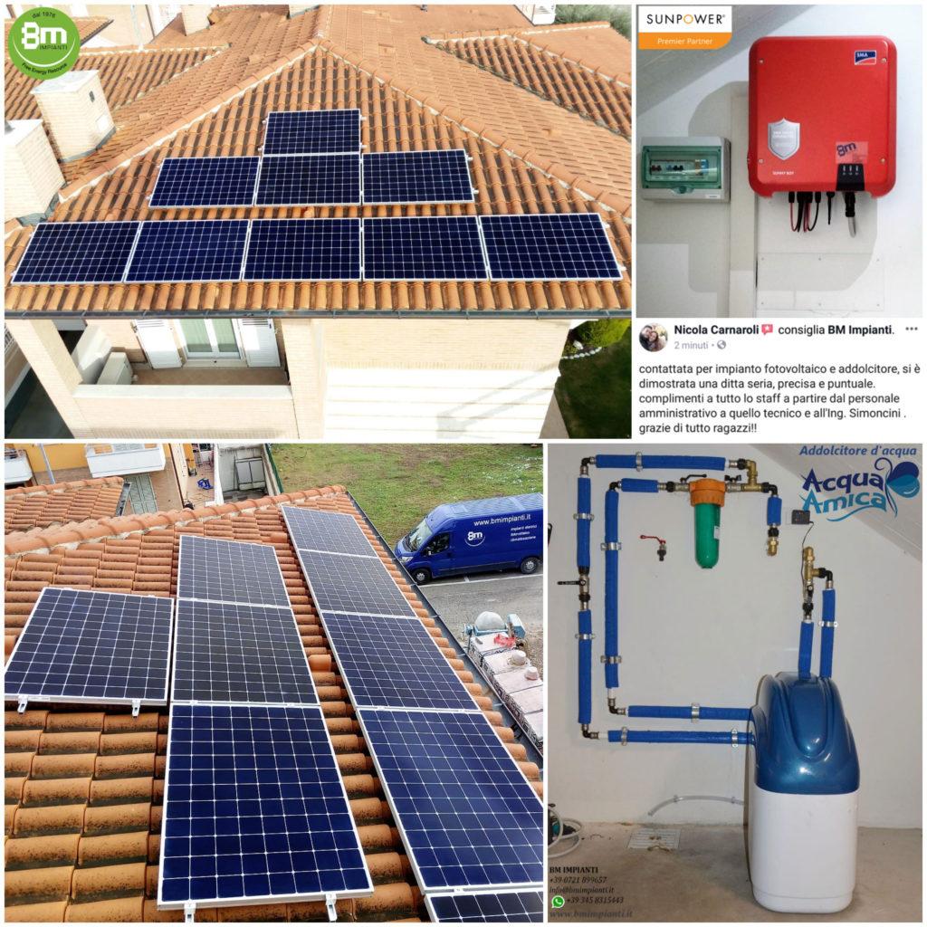 Fotovoltaico SunPower BM Impianti Carnaroli Calcinelli Pesaro cR 1