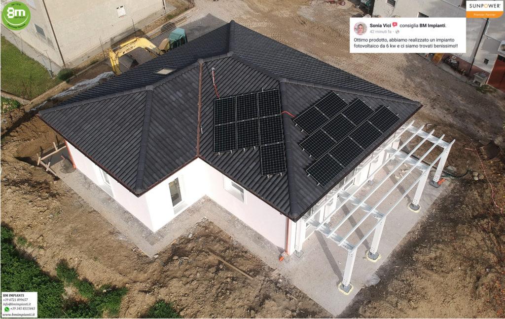 Fotovoltaico SunPower BM Impianti Ubertini Arcevia Ancona r