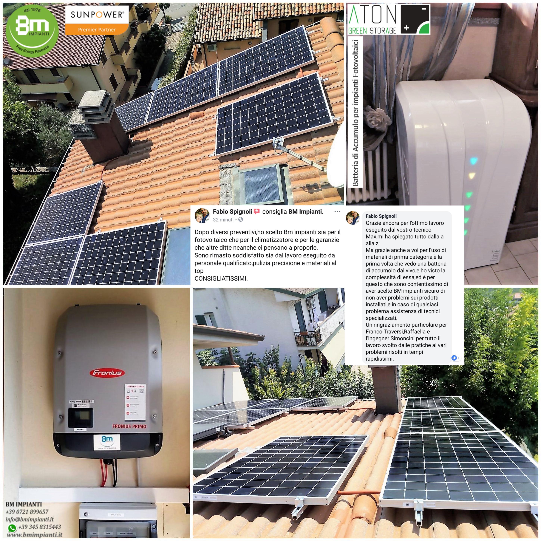 Fotovoltaico batteria BM Impianti Spignoli Longiano Forlì Cesena cr3