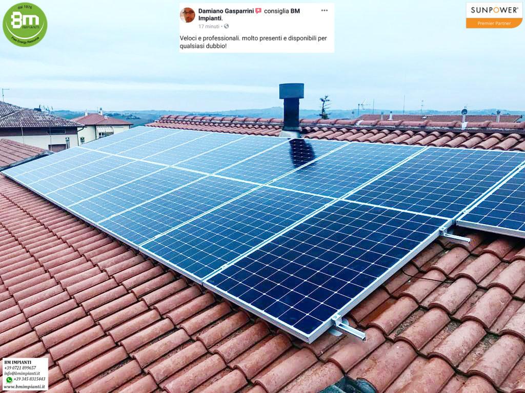 Fotovoltaico SunPower BM Impianti Gasparrini Filottrano Ancona R