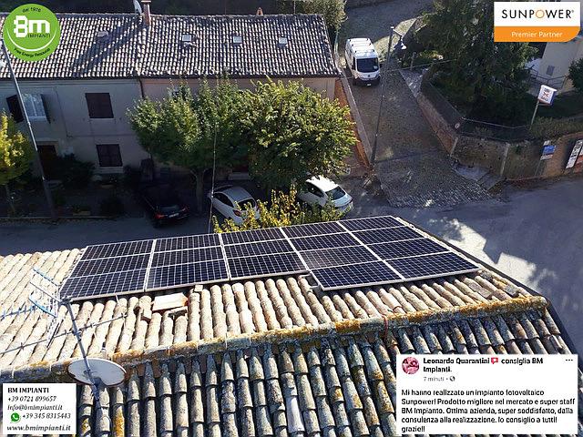 Fotovoltaico SunPower BM Impianti Quarantini Fratterosa Pesaro R