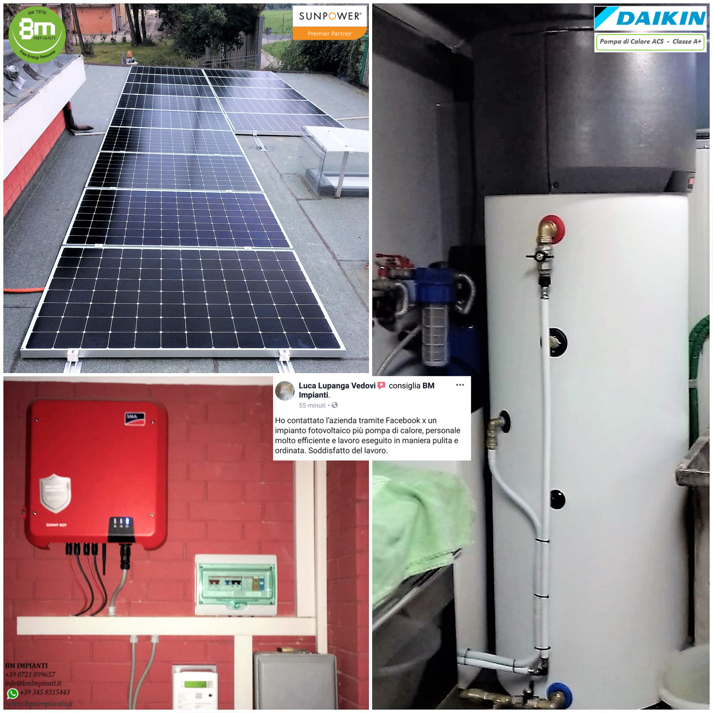 Fotovoltaico SunPower BM Impianti Conte Morciola Tavullia Pesaro cr3 2