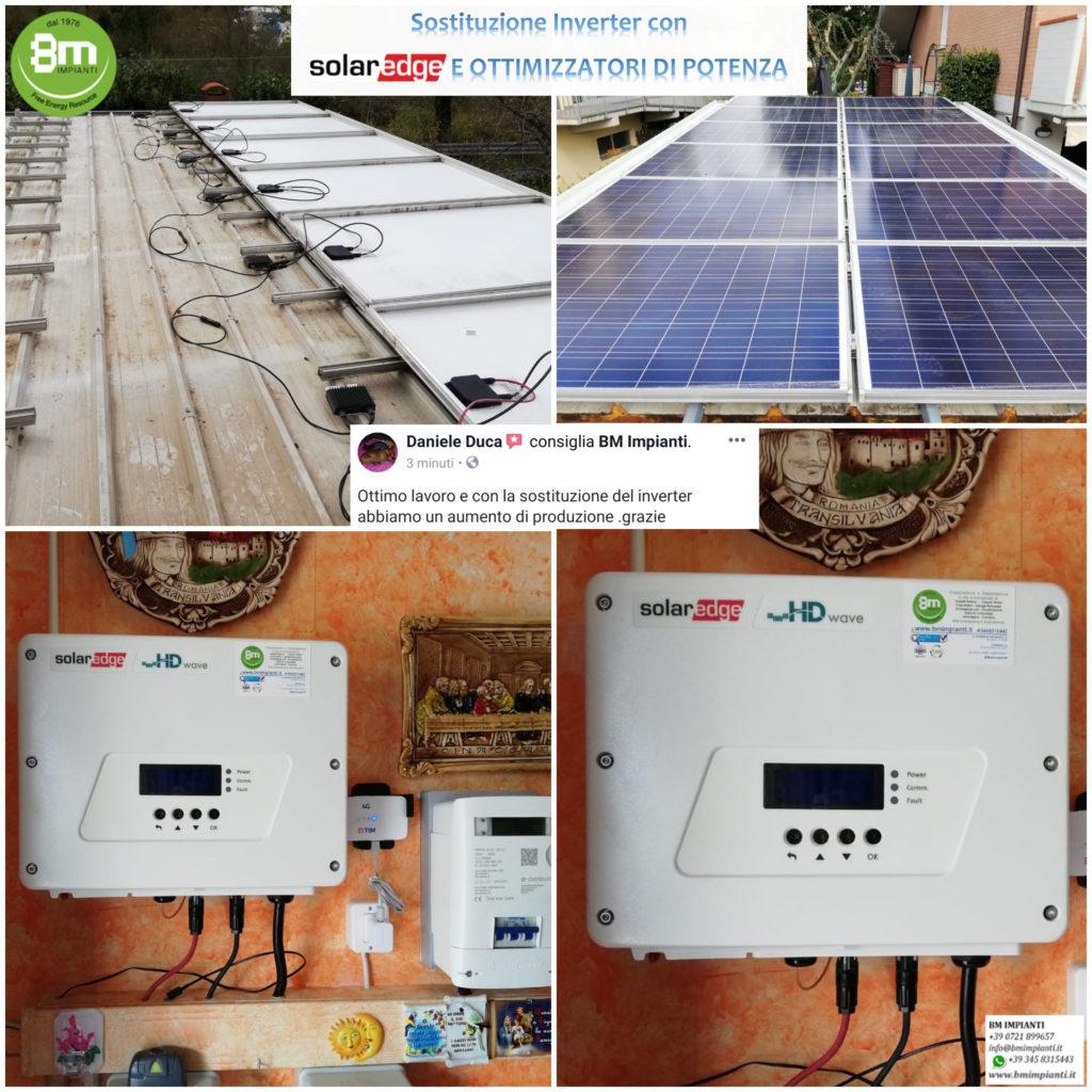 Sostituzione INVERTER fotovoltaico SOLAREDGE Duca BM Impianti Ancona Ma...