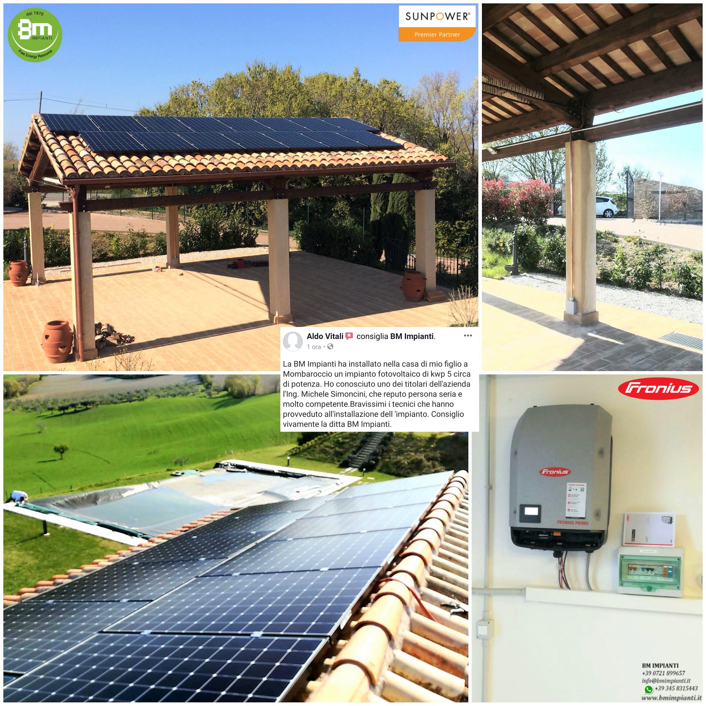 Fotovoltaico SunPower BM Impianti San Giorgio Pesaro Orciano Marche cR
