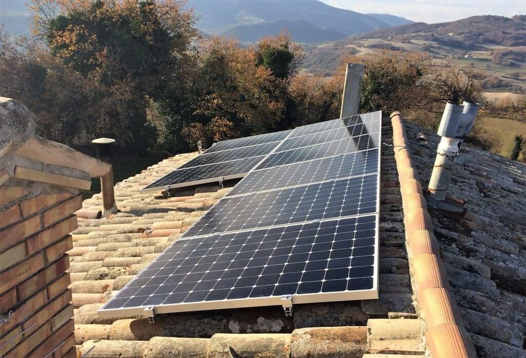 Fotovoltaico 3 kWp SunPower BM IMPIANTI Teodori Pesaro Ancona Rimini c ...