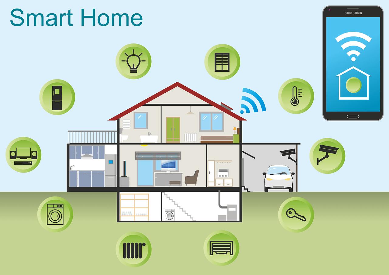smart home, house, technology