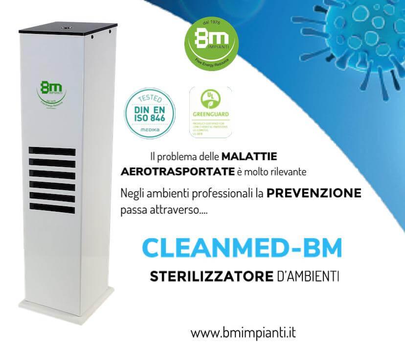 sterilizzatore ambienti cleanmed bm
